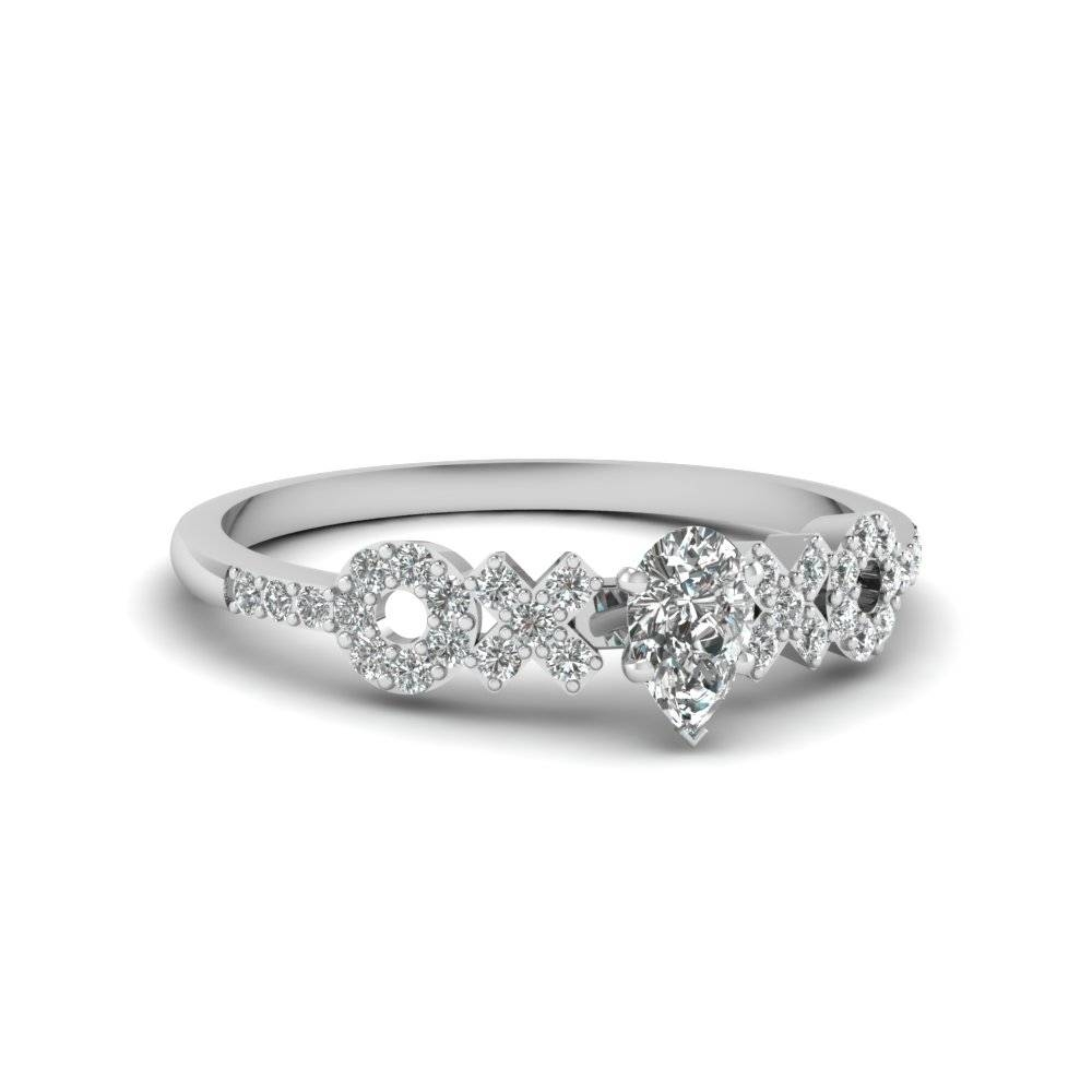 X O Pave Set Diamond Womens Wedding Ring In 14K White Gold For Womens Wedding Rings (Gallery 3 of 15)