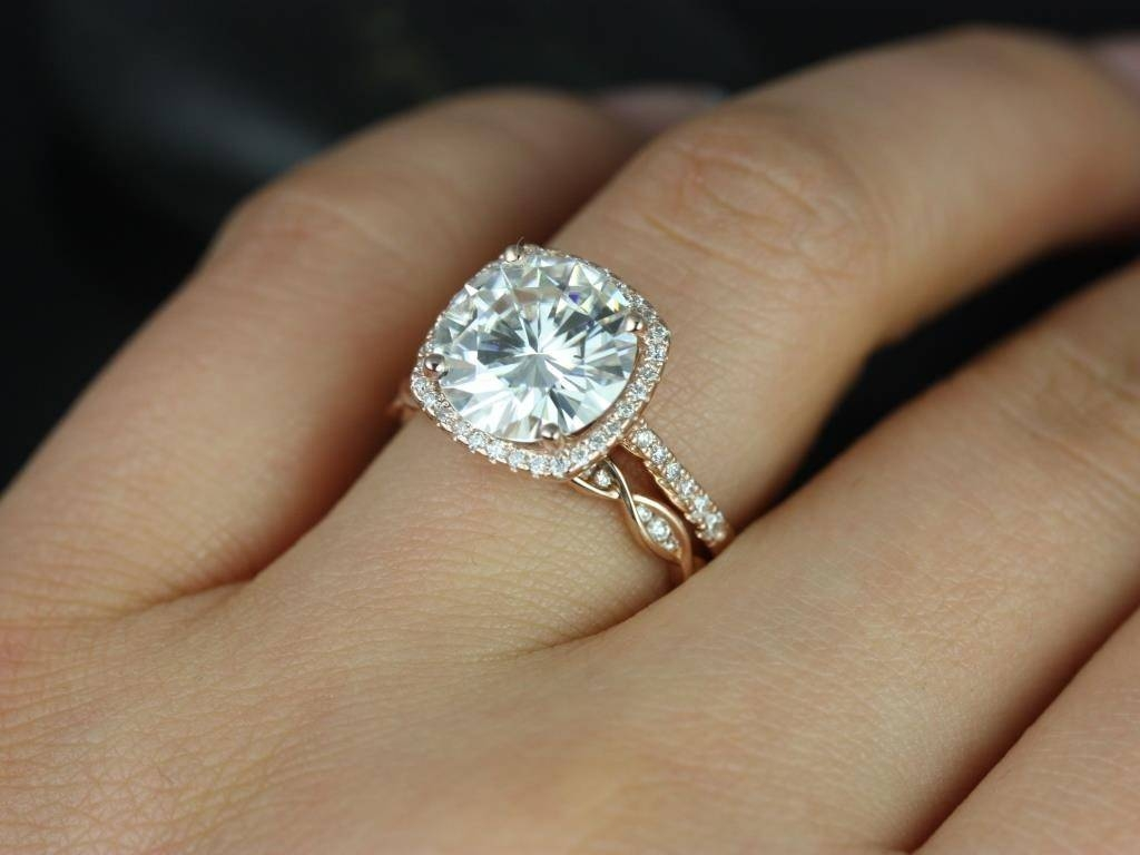 Featured Photo of Round Cushion Cut Diamond Engagement Rings