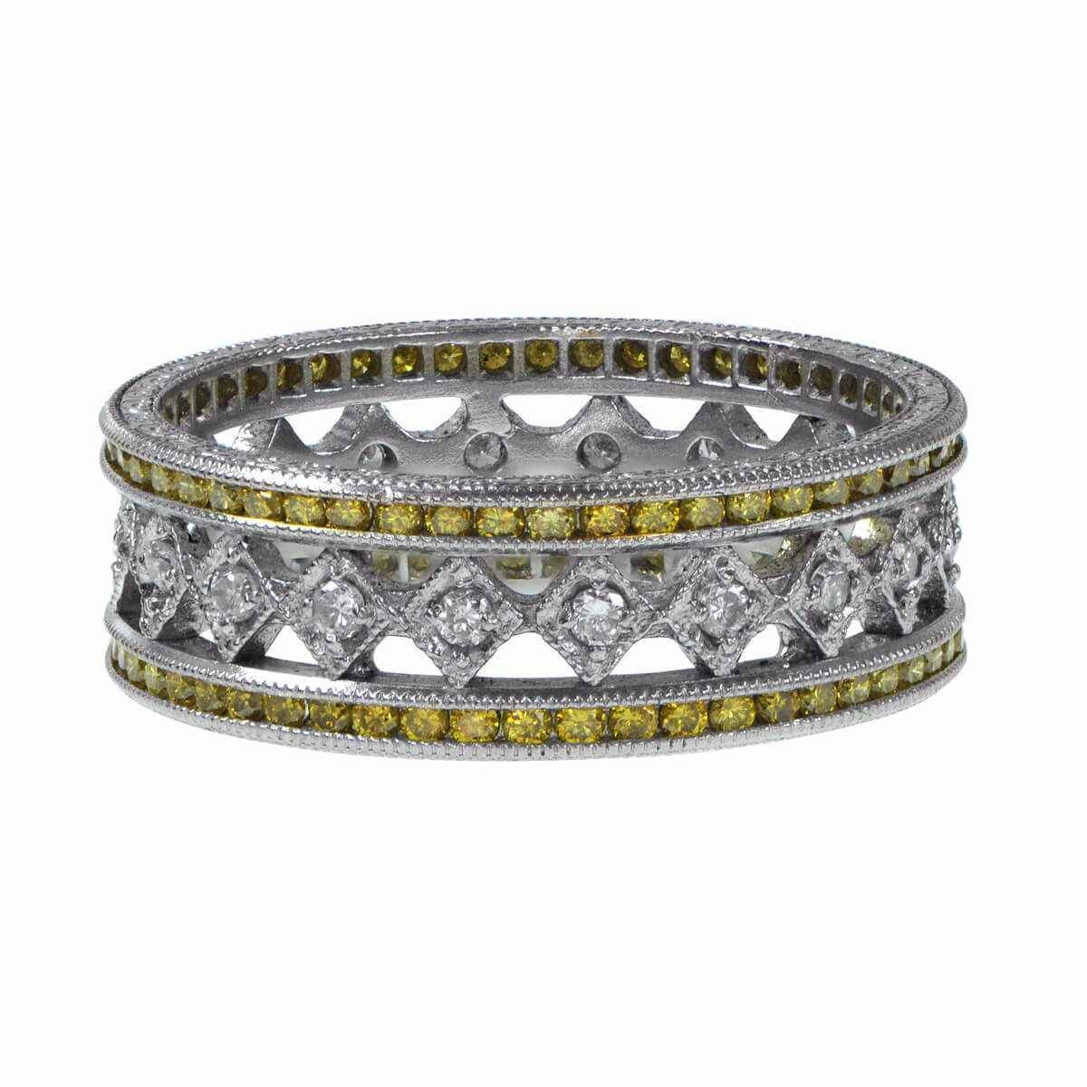 Yellow Diamond Wedding Band – Estate Diamond Jewelry Throughout Wedding Bands With Yellow Diamonds (View 15 of 15)