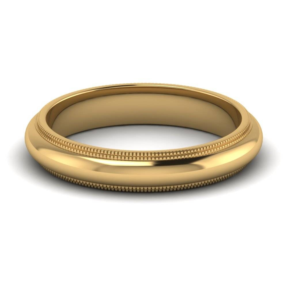 Yellow Gold Men's Wedding Band, White Gold Men's Wedding Band In 4Mm Mens Wedding Bands (View 15 of 15)