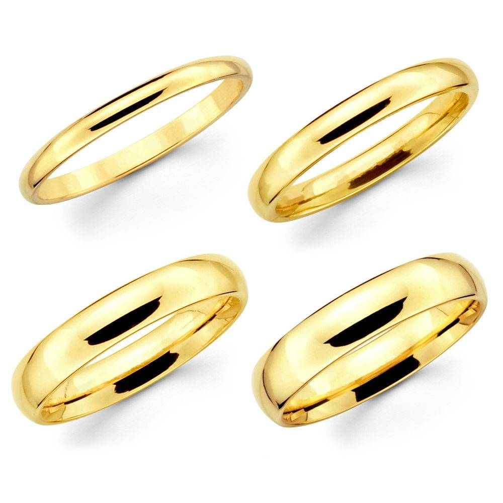 Yellow Gold Wedding Band | Ebay Regarding Men Yellow Gold Wedding Bands (Gallery 13 of 15)