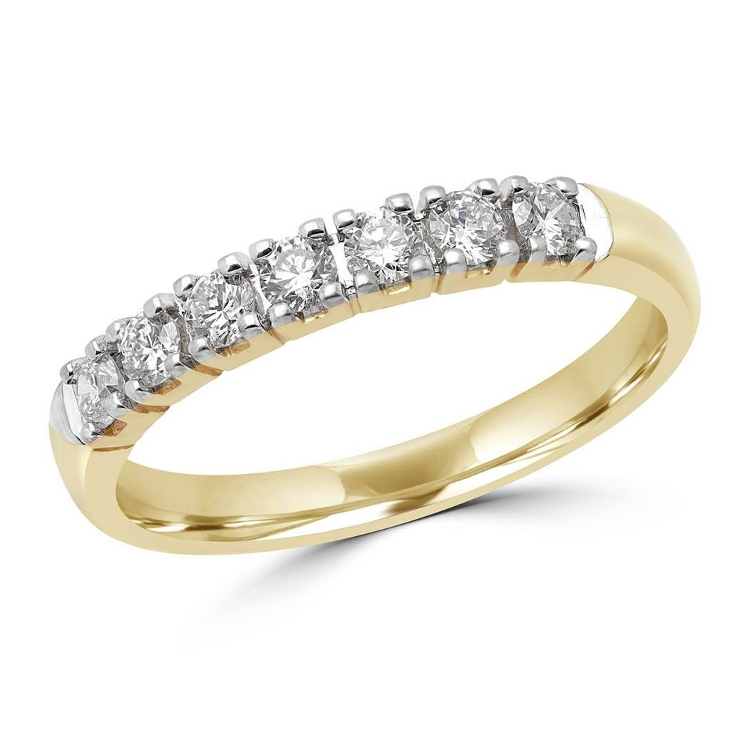 1/3 Carat (Ctw) 7 Stone Diamond Semi Eternity Anniversary Ring Regarding Latest 3 Carat Anniversary Rings (View 2 of 25)