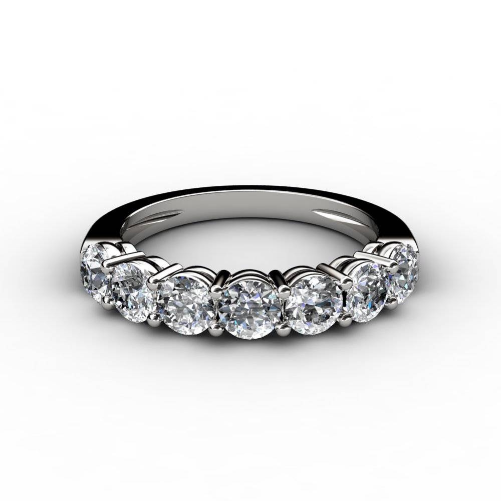 1 Ct 7 Stone Round Cut Diamond Anniversary Band Ring Regarding Most Recent 1 Carat Diamond Anniversary Rings (View 2 of 15)