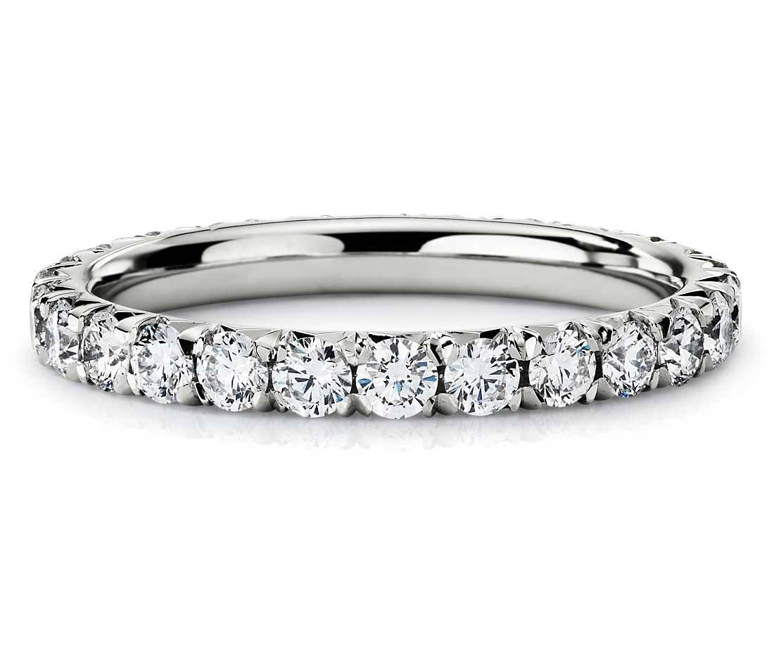 1 Ct. Tw. Pavé Diamond Eternity Band Ring In 14k White Gold – Shop With Regard To Best And Newest Blue Nile Anniversary Rings (Gallery 23 of 25)