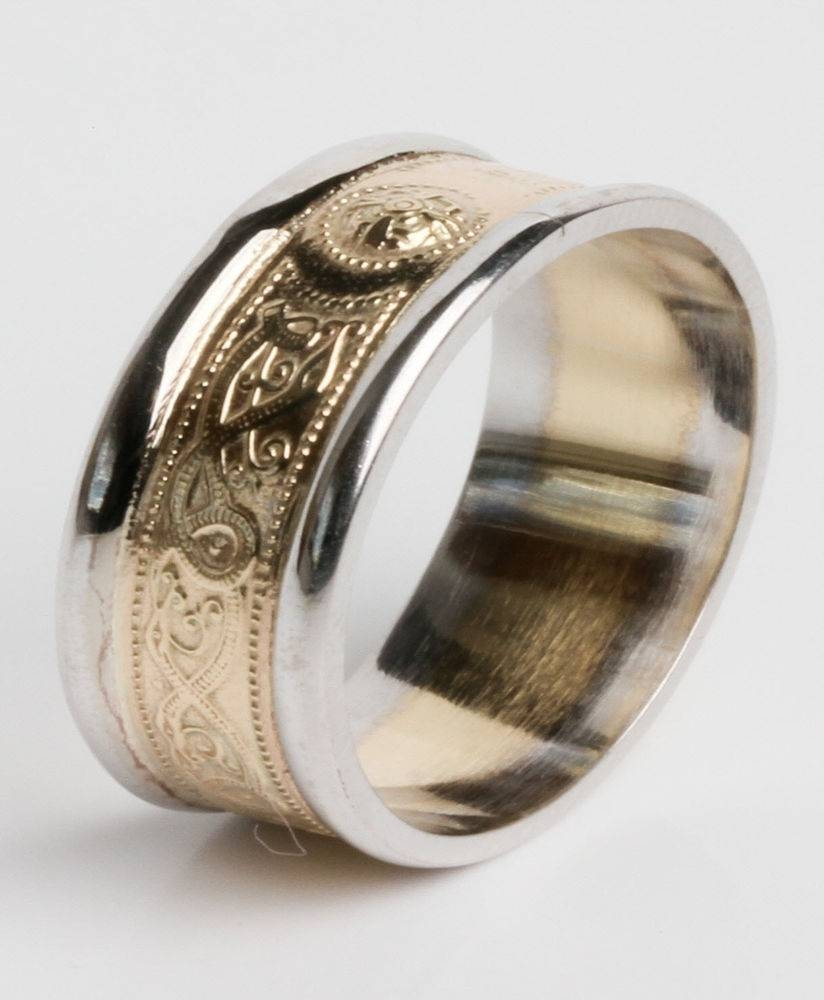 10K Gold Irish Handcrafted Irish Celtic Warrior Wedding Within Newest Irish Anniversary Rings (View 1 of 25)