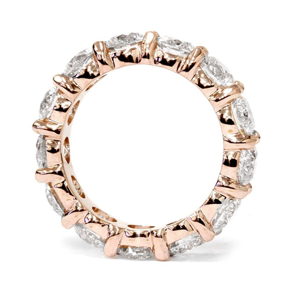 14K Rose Gold 5.5Ct Tdw Eternity Diamond Anniversary Ring – Free For Most Recent Rose Gold Anniversary Rings (Gallery 18 of 25)