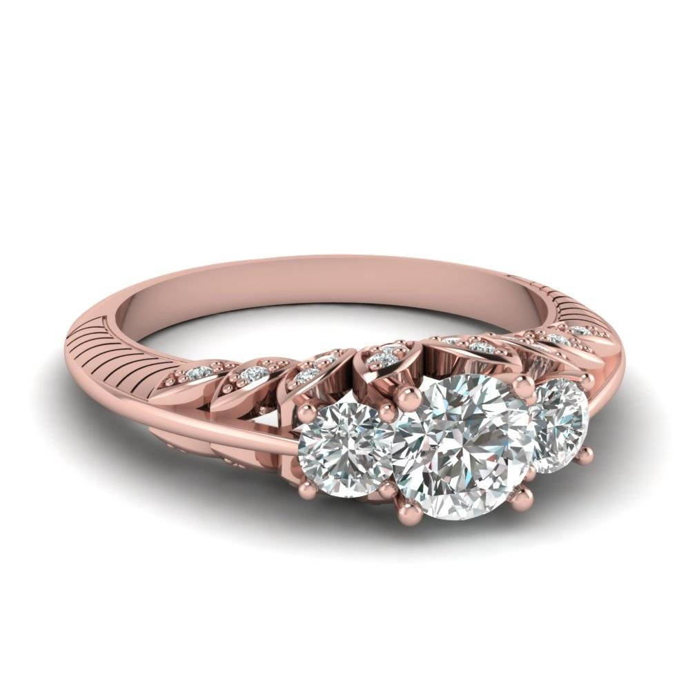 14K Rose Gold | Fascinating Diamonds Within Best And Newest Gold Diamond Anniversary Rings (Gallery 2 of 25)