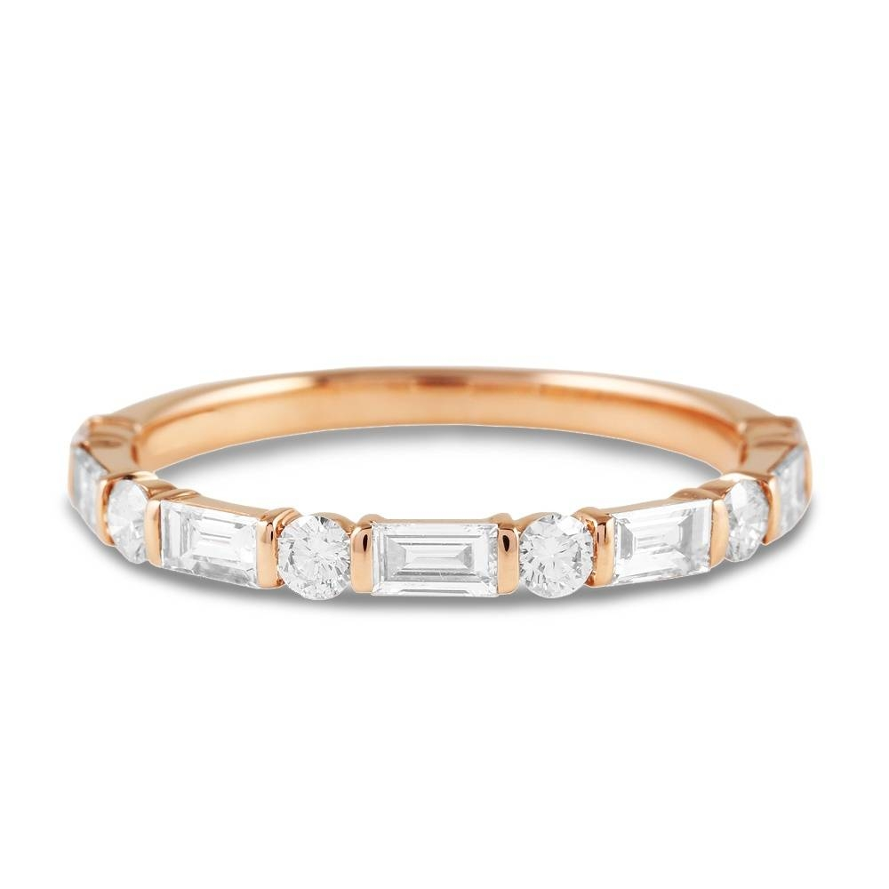 18Ct Rose Gold Baguette Diamond Eternity Ring From Berry's Ghet2052 Inside Most Current Baguette Anniversary Rings (View 1 of 25)