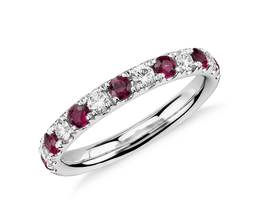 18Ct Ruby And Diamond Ring – Ruby And Diamond Ring As The Marking Regarding Most Popular Ruby And Diamond Anniversary Rings (Gallery 15 of 25)