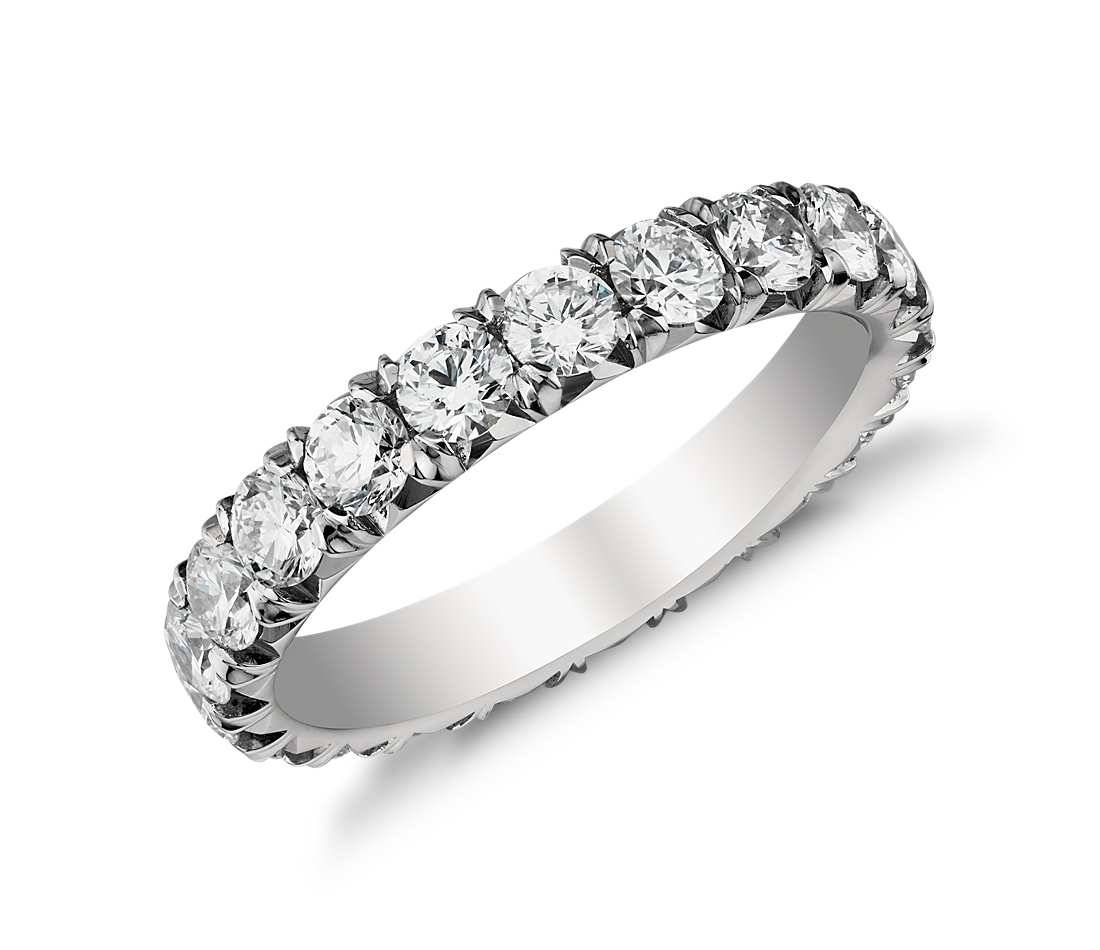 2 Ct. Tw. Pavé Diamond Eternity Ring In Platinum – Shop For Pertaining To Current Pave Anniversary Rings (Gallery 1 of 25)