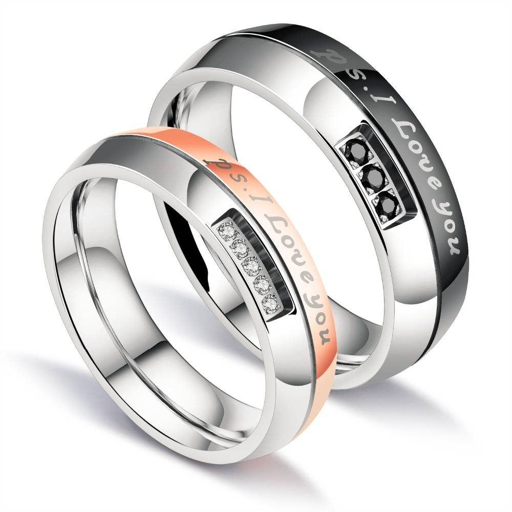 2 Pieces Gift For Husband Wife His And Her Anniversary Wedding Pertaining To Latest His And Her Anniversary Rings (Gallery 25 of 25)