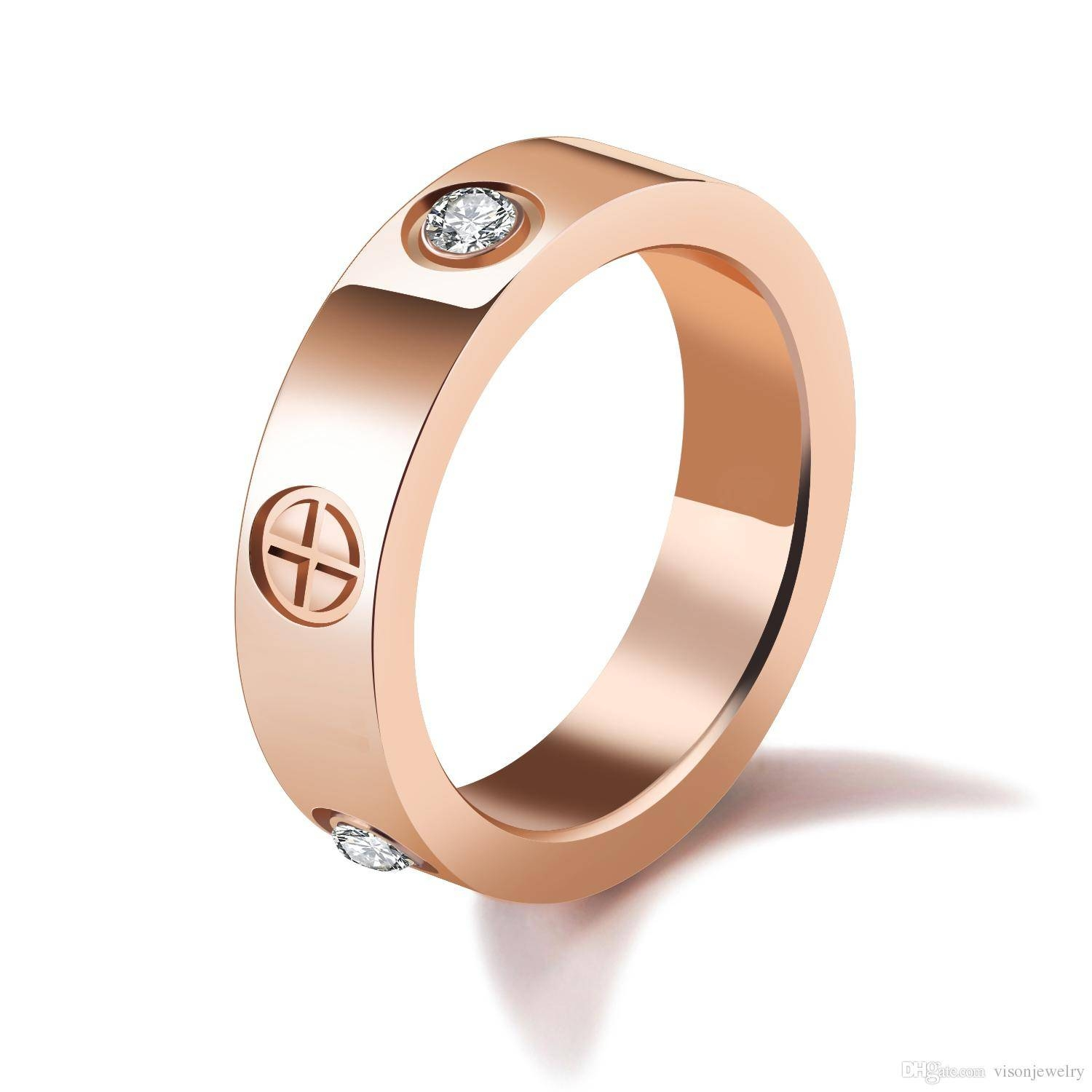 2018 Free Laser Engraving With Any Message 5Mm Rose Gold Color With Newest Engraving Anniversary Rings (Gallery 13 of 25)