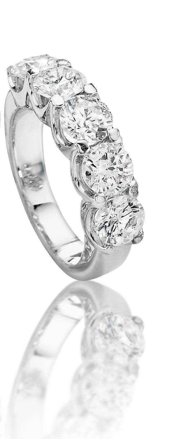 22 Best 30 Year Wedding Anniversary Ring Images On Pinterest In Newest 5 Stone Diamond Anniversary Rings (View 5 of 25)