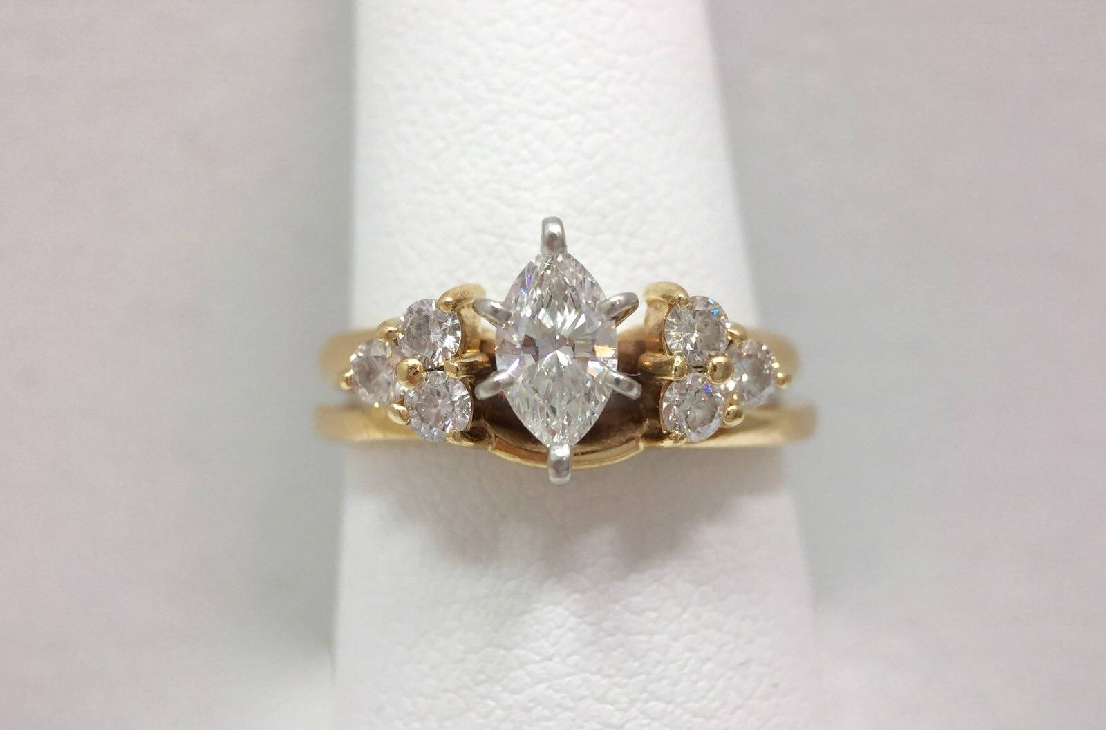 3/4ct Marquise Diamond Solitaire Accent Wedding Anniversary Ring 7 In Most Popular 7 Marquise Diamond Anniversary Rings (View 9 of 25)