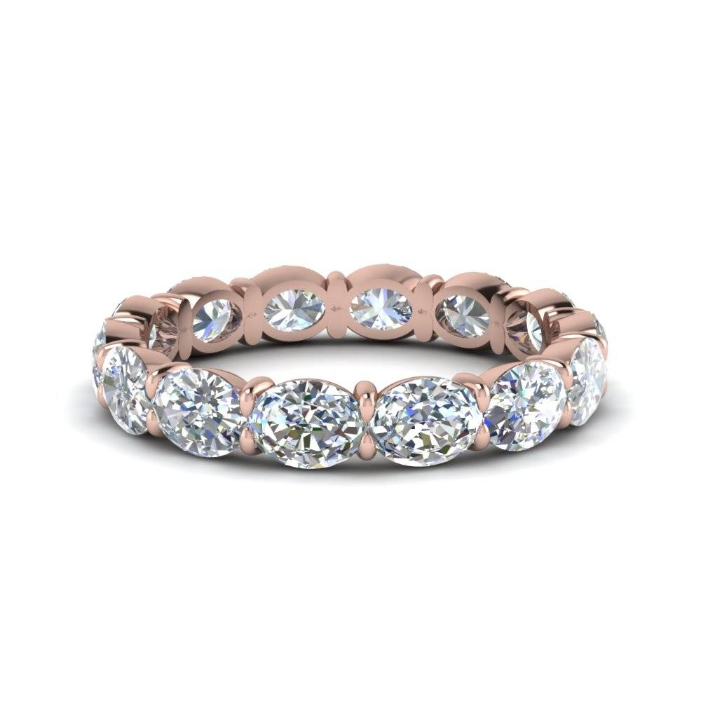 3 Carat Oval Diamond Eternity Ring In 14K Rose Gold | Fascinating With Regard To Most Popular 3 Carat Anniversary Rings (View 5 of 25)