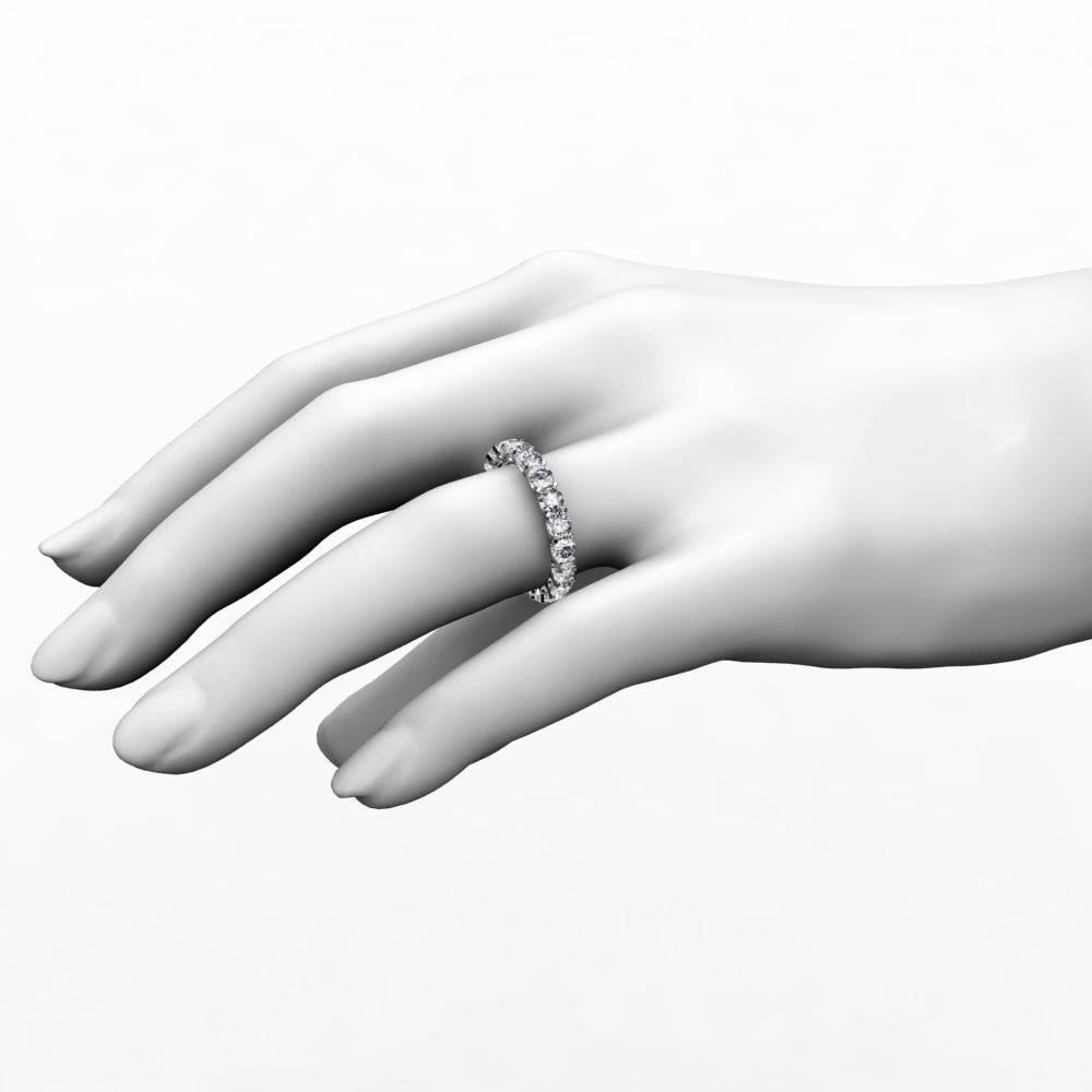 3 Ct Round Cut U Prong Diamond Eternity Anniversary Band Ring Pertaining To Recent Eternity Anniversary Rings (View 4 of 25)