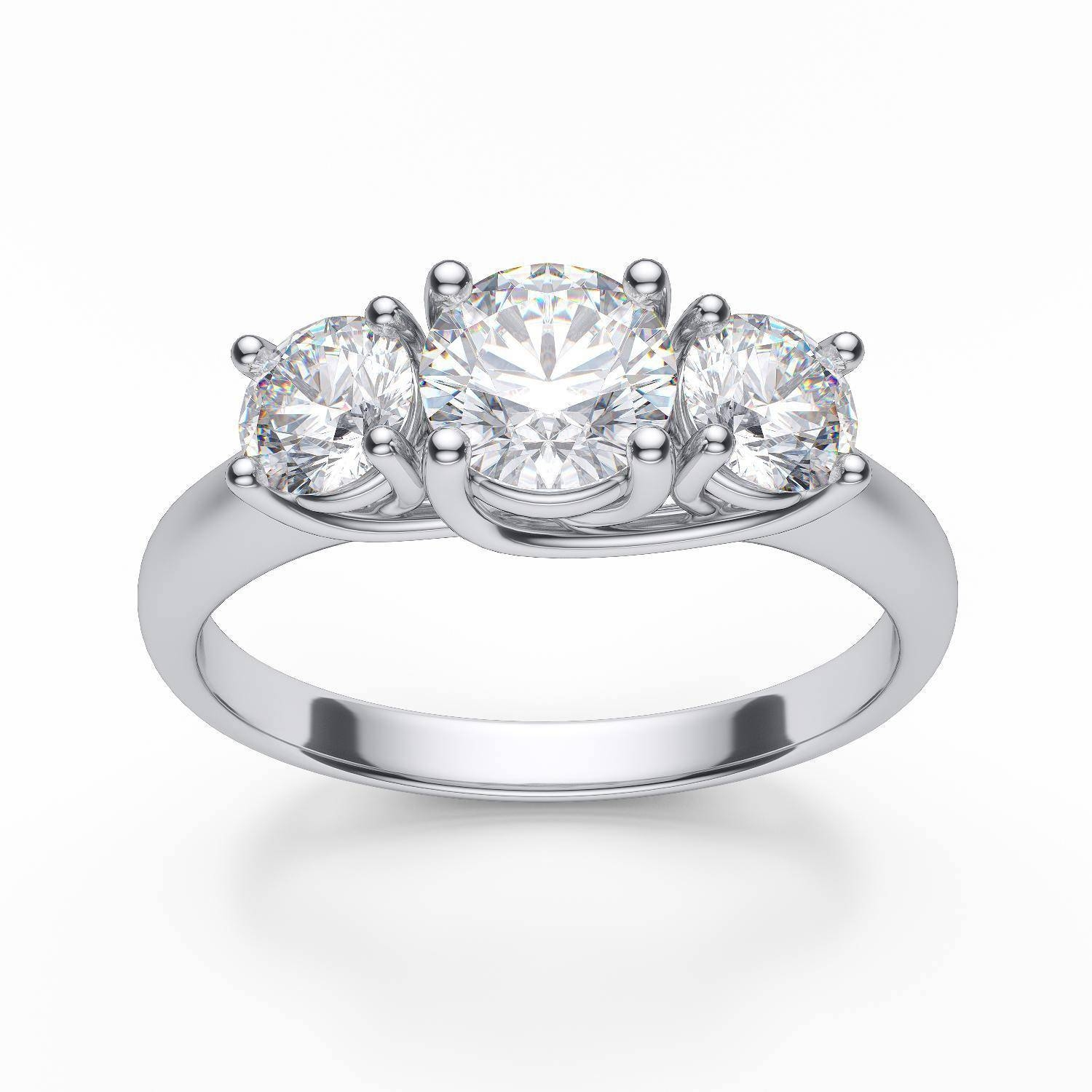 3 Stone Diamond Anniversary Rings | Wedding, Promise, Diamond Within Newest Three Diamond Anniversary Rings (Gallery 17 of 25)