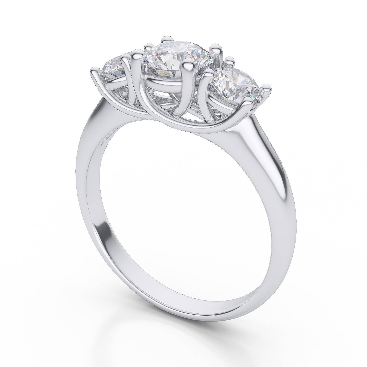 3 Stone Diamond Rings Platinum | Wedding, Promise, Diamond For Current Three Diamond Anniversary Rings (View 4 of 25)