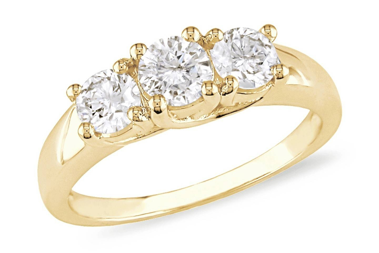 31 Best Lovely Gold Anniversary Rings | Eternity Jewelry Within Most Current Gold Anniversary Rings (View 6 of 25)
