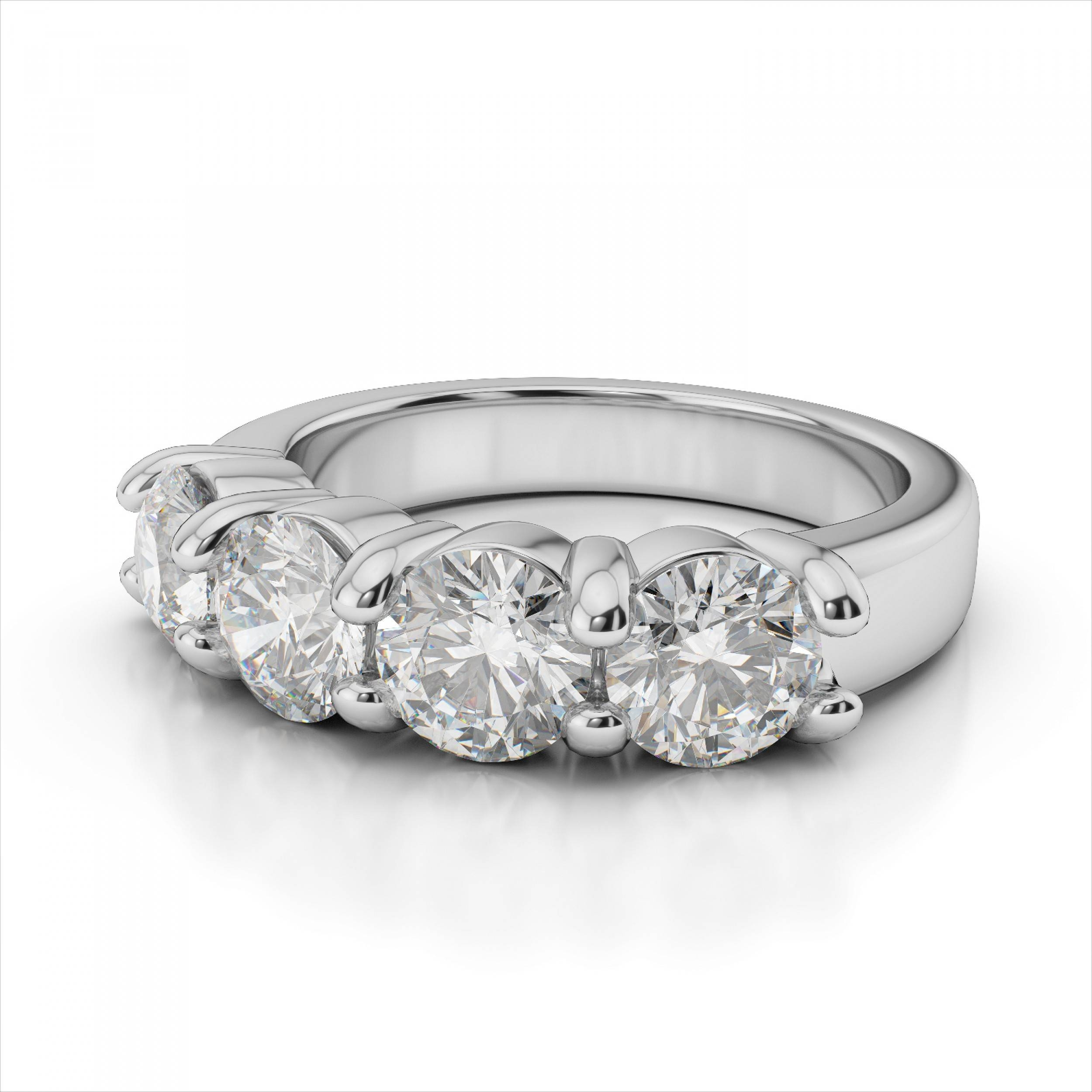 4 Stone Diamond Rings | Wedding, Promise, Diamond, Engagement Within 2018 Diamonds Anniversary Rings (View 2 of 25)
