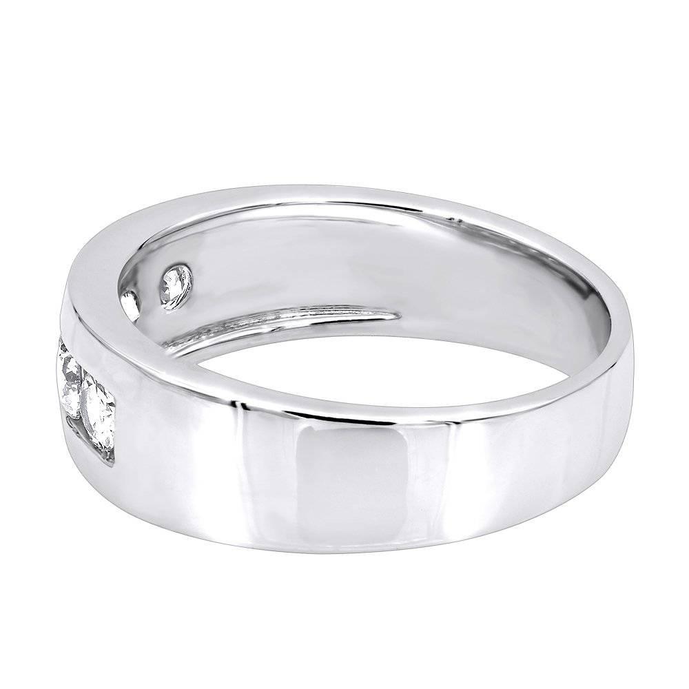 5 Year Anniversary Ring 14K Gold 5 Stone Diamond Wedding Band For Regarding 2017 Five Year Anniversary Rings (View 3 of 25)