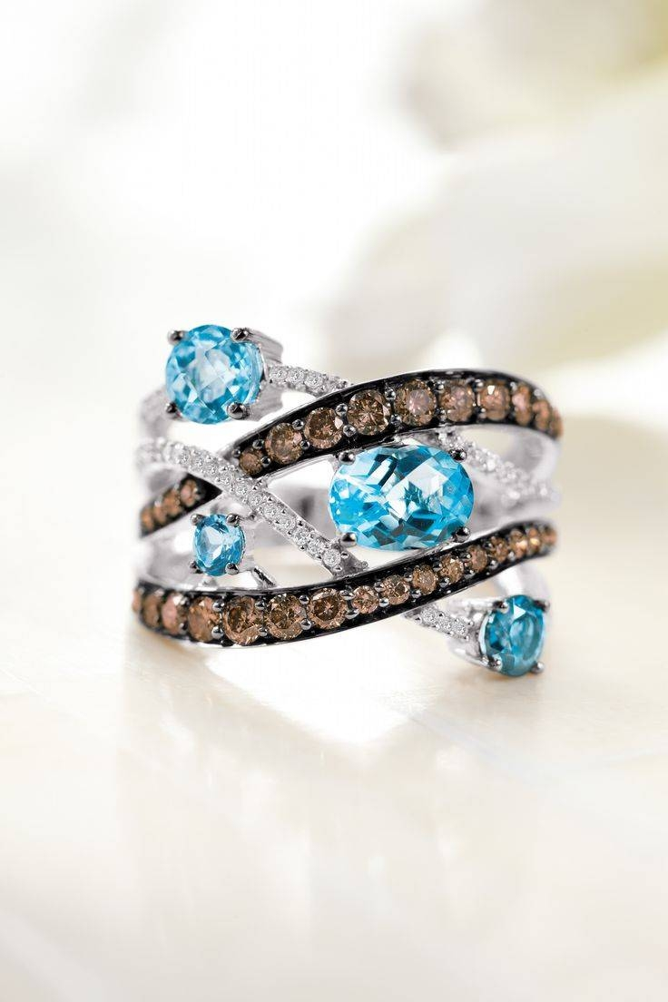 753 Best Jewelry Images On Pinterest | Engagements, Wedding Bands Pertaining To Best And Newest Chocolate Diamond Anniversary Rings (View 1 of 25)