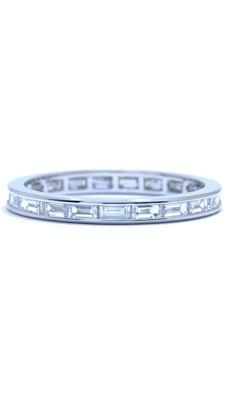 82 Best Wedding & Anniversary Rings Images On Pinterest | Diamond In Most Recently Released Baguette Diamond Anniversary Rings (View 2 of 25)
