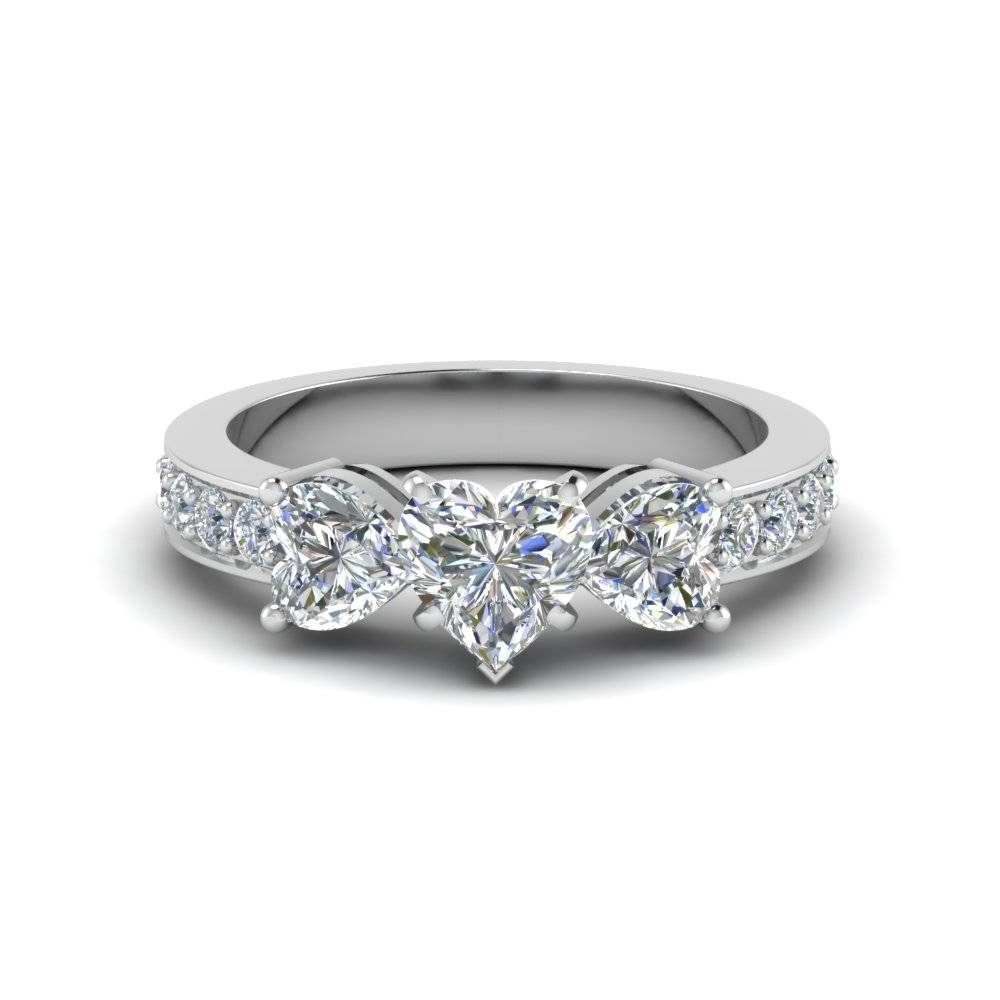 Affordable 3 Stone Heart Shaped Engagement Rings | Fascinating Regarding Most Current Three Stone Anniversary Rings (View 2 of 25)