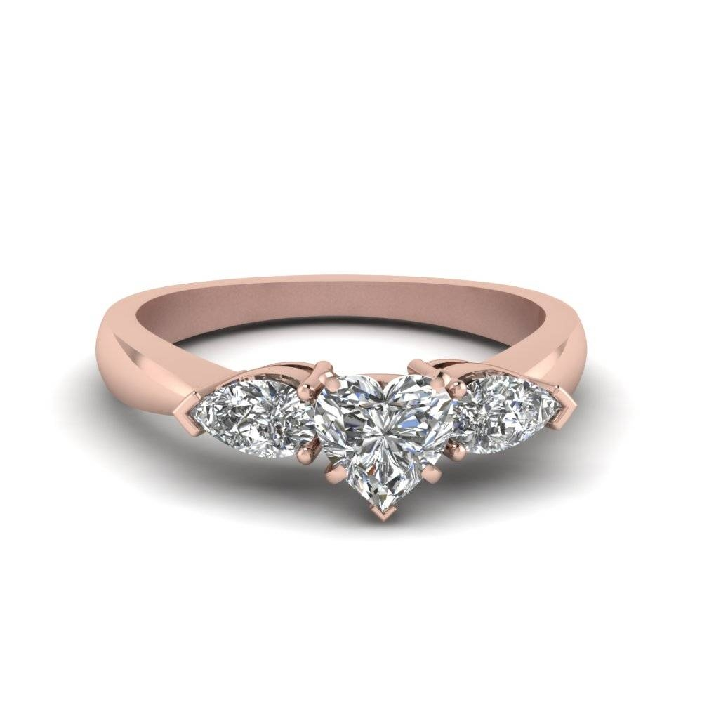 Affordable 3 Stone Heart Shaped Engagement Rings | Fascinating With Recent Three Stone Anniversary Rings (View 3 of 25)
