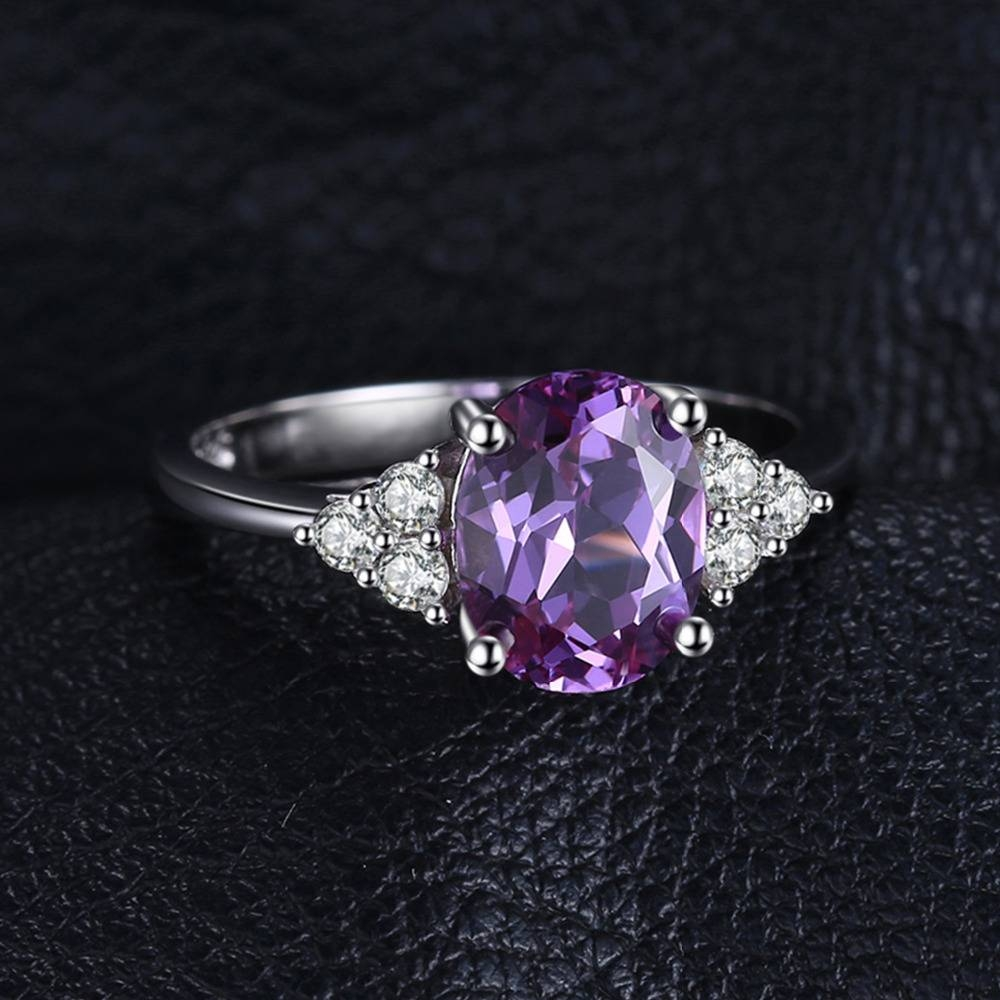 Aliexpress : Buy Jewelrypalace Classic Oval 2.8Ct Created Regarding Latest Sapphire Anniversary Rings (Gallery 25 of 25)