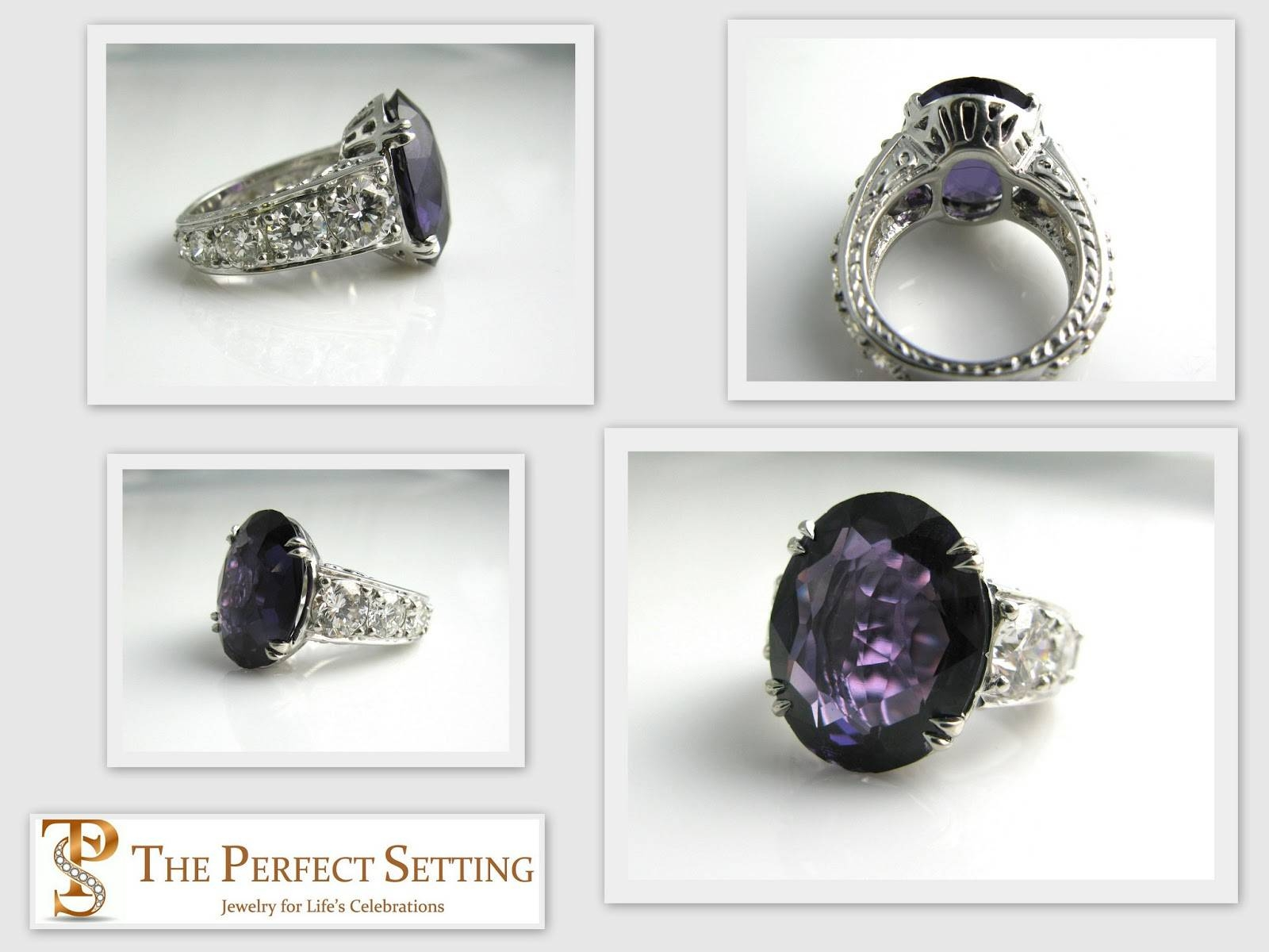 Amy Certilman, Jewelry 411: Alexandrite And Diamond Anniversary For Newest Custom Anniversary Rings (Gallery 4 of 25)