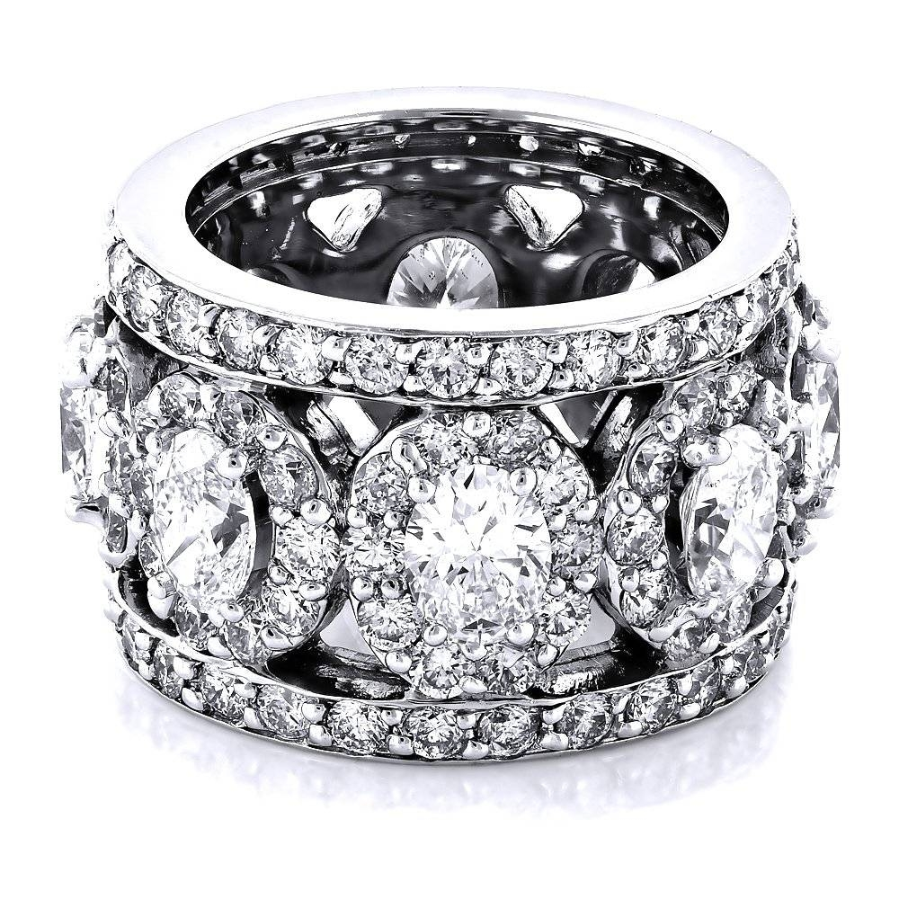 Anniversary Rings: Unique 18K Gold Designer Wide Diamond Eternity Regarding Most Recent Womens Anniversary Rings (View 5 of 25)