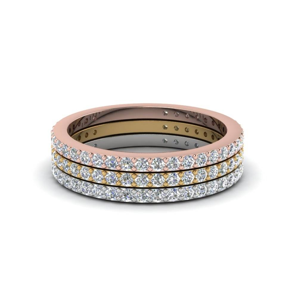 Anniversary Stackable Diamond Band In 14K White Gold | Fascinating In Best And Newest Diamonds Wedding Anniversary Rings (View 6 of 25)