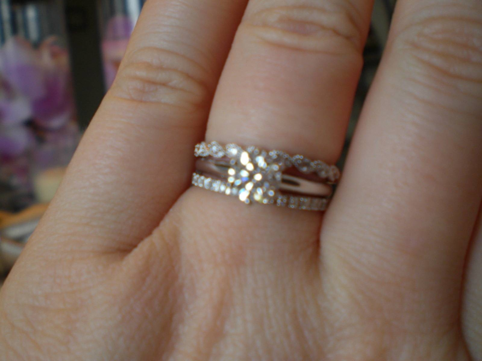 Photo of engagement wedding and anniversary rings sets