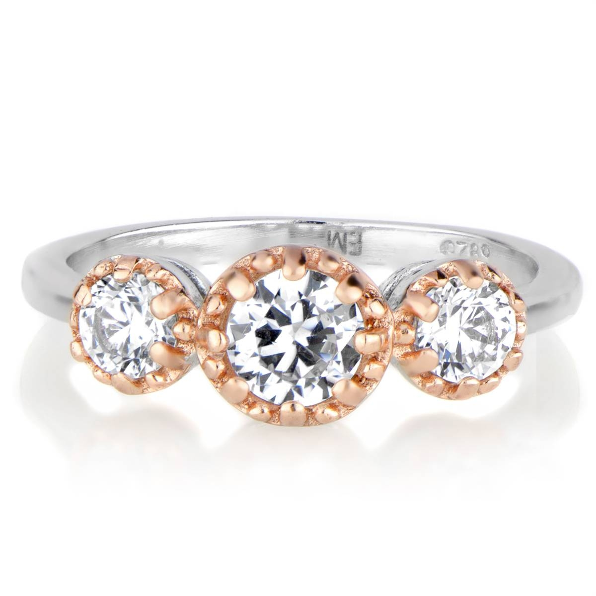 Arely's Three Stone Anniversary Ring – Two Tone Inside Most Recently Released Two Tone Anniversary Rings (View 5 of 25)