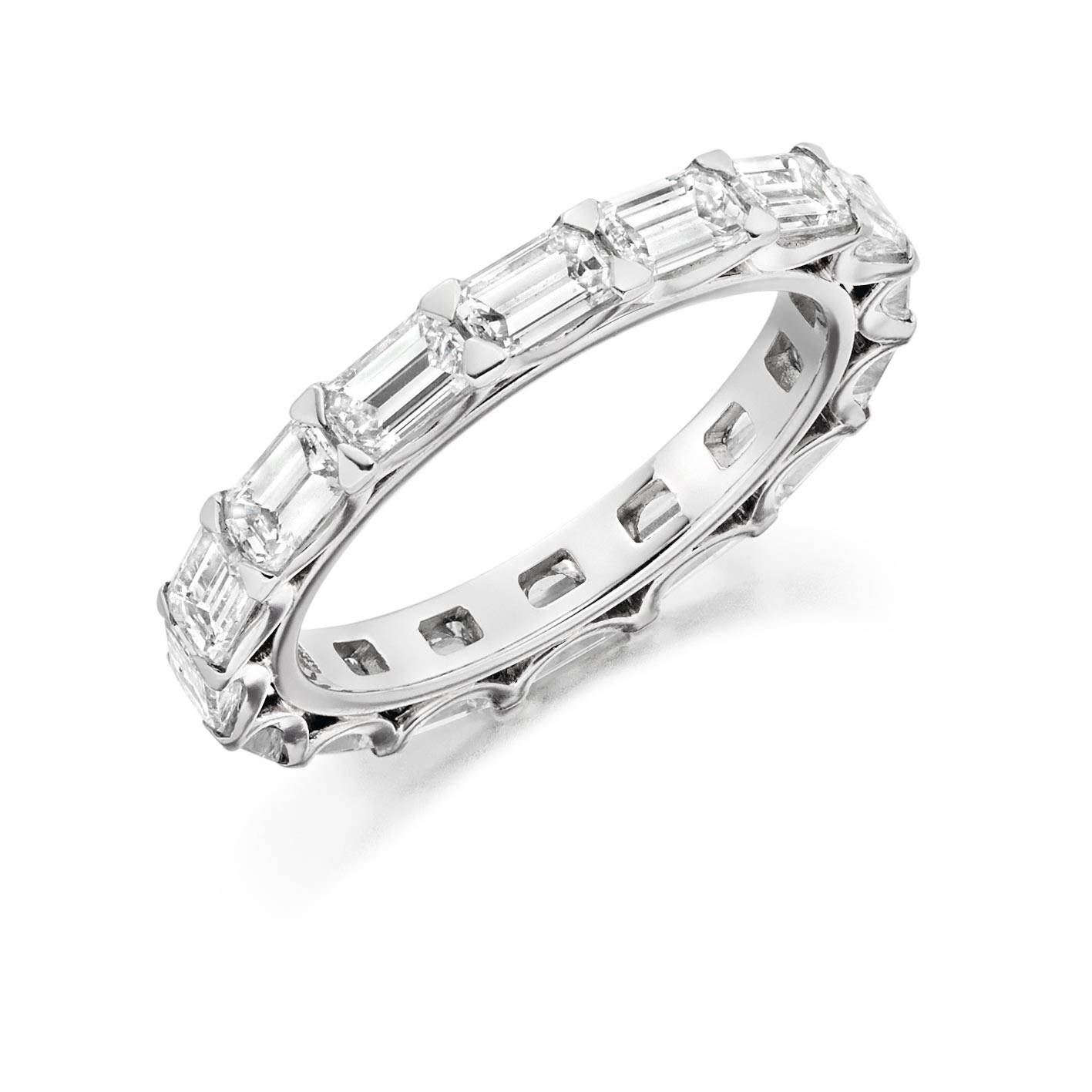 Baguette Cut Full Eternity Style Ring –  (View 9 of 25)
