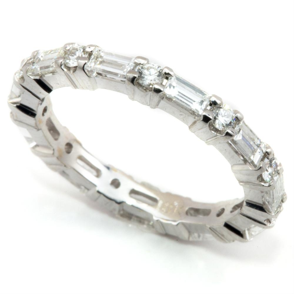 Baguette Eternity Band? – Weddingbee Throughout Most Up To Date Baguette Diamond Anniversary Rings (Gallery 10 of 25)