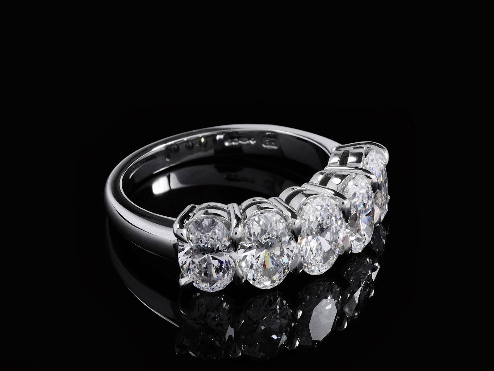 Featured Photo of Five Stone Diamond Anniversary Rings