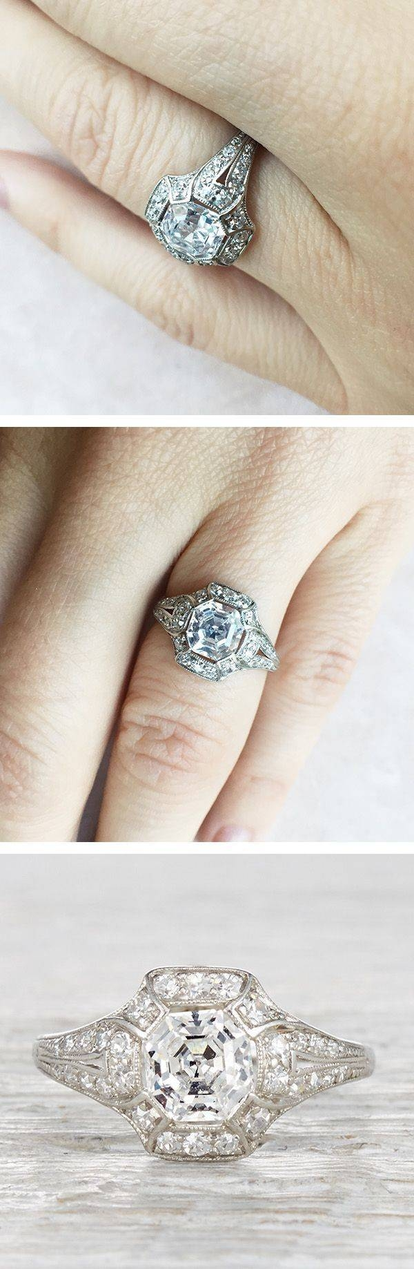 Best 25+ Vintage Anniversary Rings Ideas On Pinterest | Engagement With Regard To Most Up To Date First Year Anniversary Rings (Gallery 12 of 25)