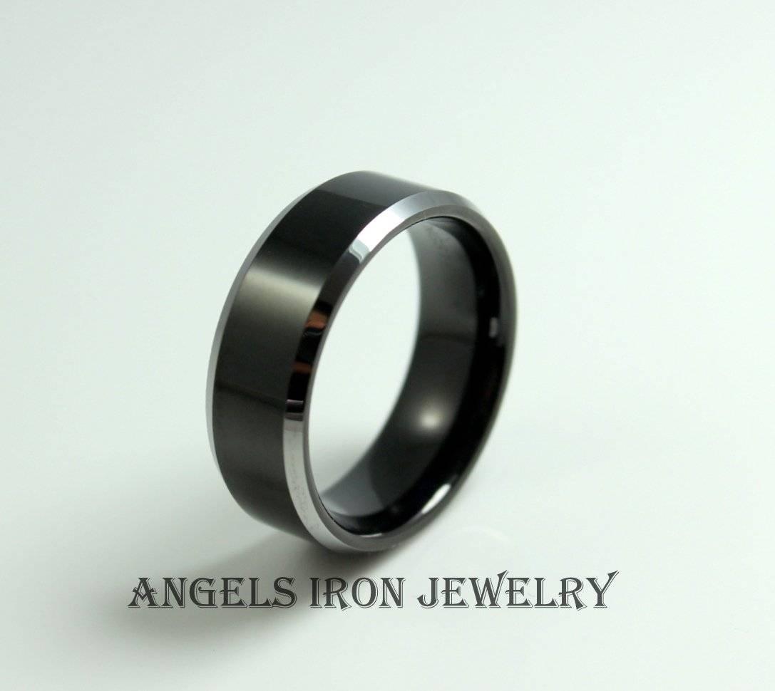 Black Tungsten Titanium Band Wedding Anniversary Promise Rings For 2018 Titanium Anniversary Rings (View 17 of 25)