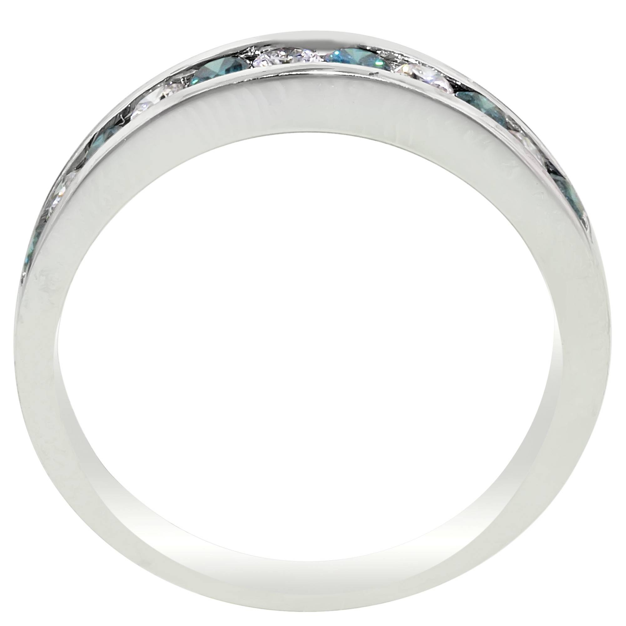 Blue Diamond Anniversary Band In 14Kt White Gold (1/2Ct Tw) Throughout 2018 Blue Diamond Anniversary Rings (View 6 of 25)