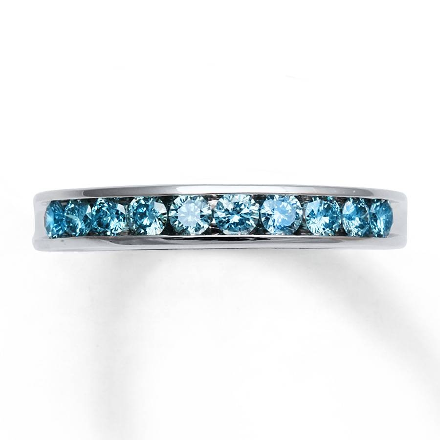 Featured Photo of Blue Diamond Anniversary Rings