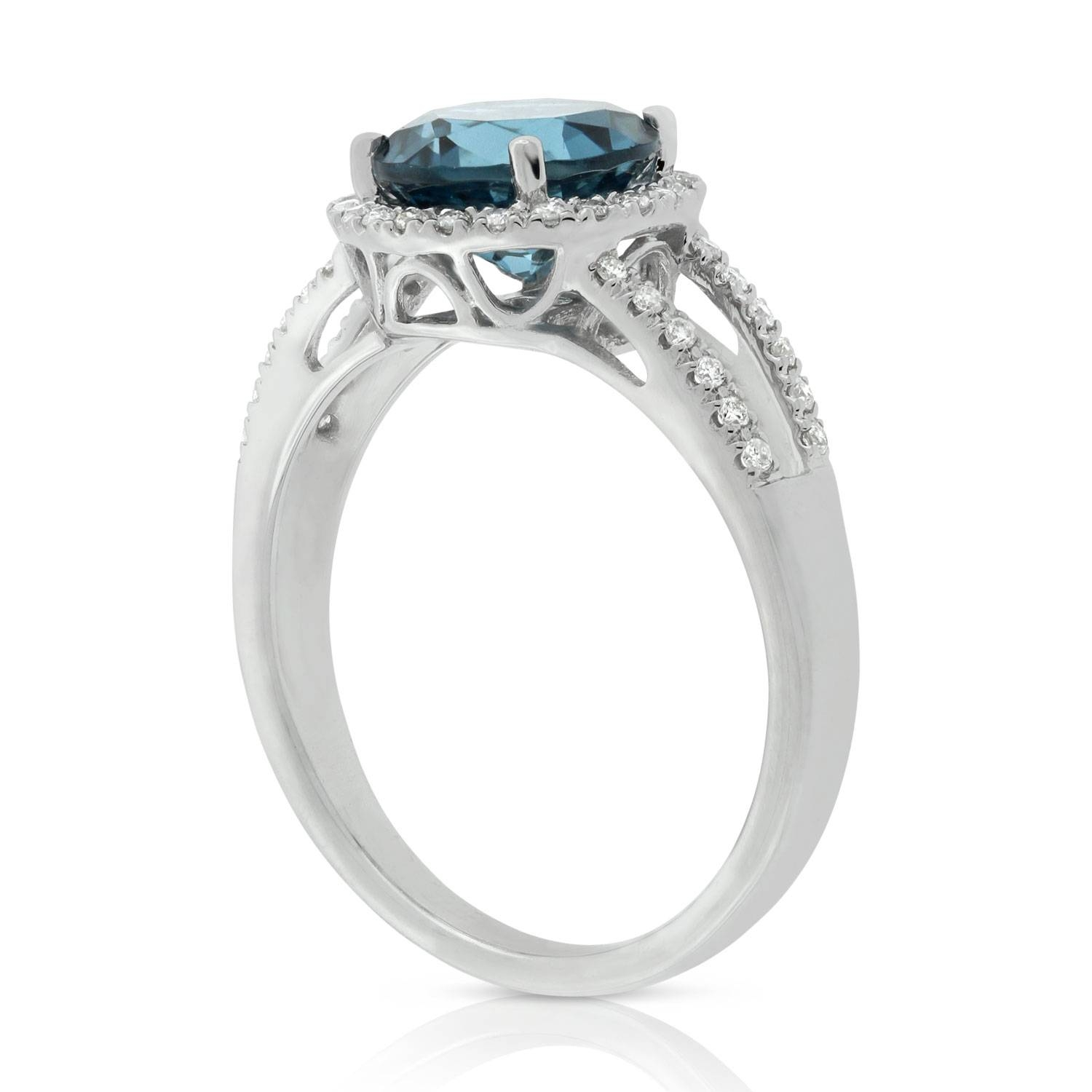 Blue Topaz & White Sapphire Ring 14K | Ben Bridge Jeweler Within 2017 White Sapphire Anniversary Rings (Gallery 25 of 25)