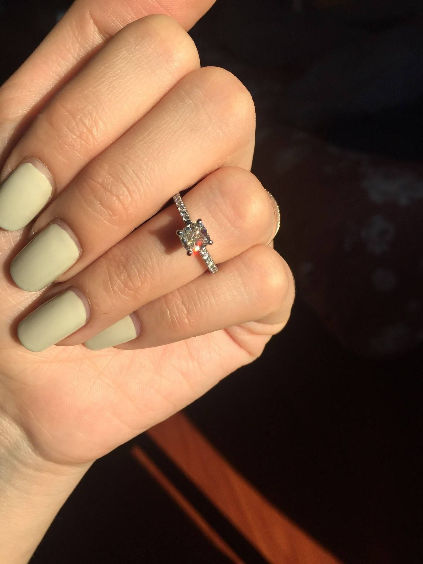 Bn Cushion Cut Anniversary Ring Review!!! Long Post, Don\'t Judge In Most Current Blue Nile Anniversary Rings (View 8 of 25)