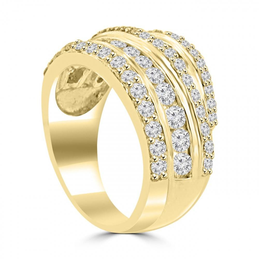 Ct Ladies Round Cut Diamond Anniversary Ring In Prong Setting 14 Regarding 2017 Yellow Gold Anniversary Rings (View 5 of 25)