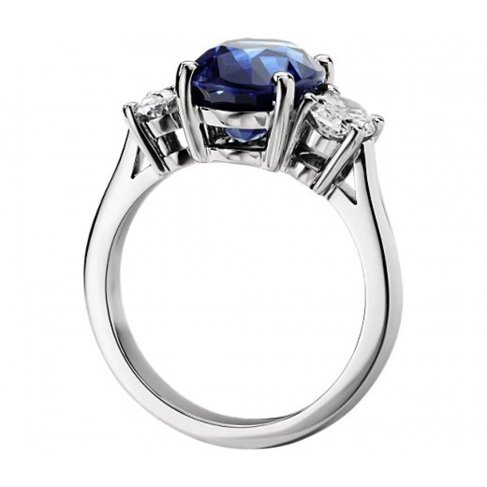 Ct Oval Shape Sapphire With Oval Shape Diamond Anniversary Ring Throughout Most Up To Date Sapphire And Diamond Anniversary Rings (View 9 of 25)