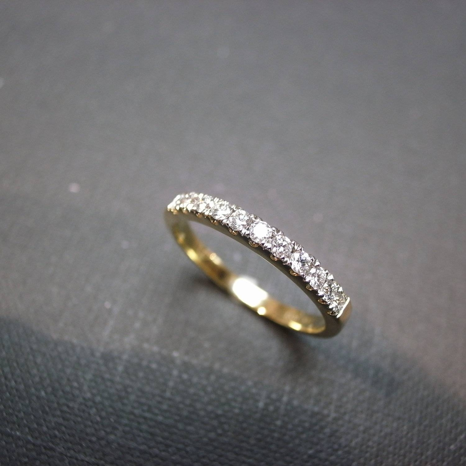 Custom Made Ring, Gold Diamond Bridal, Her Anniversary Ring, Women Regarding Current Custom Made Anniversary Rings (View 18 of 25)