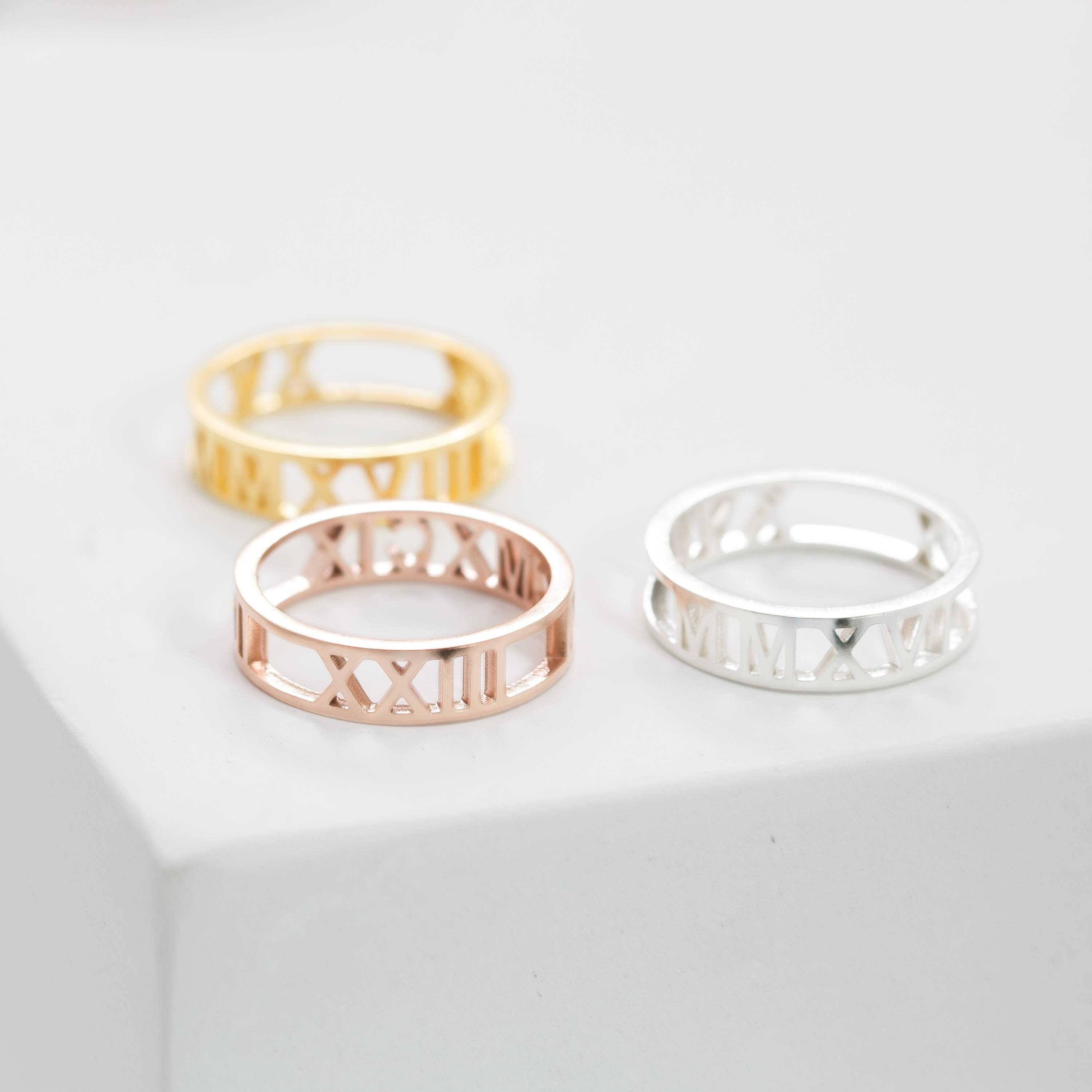 Dainty Personalized Jewelry Handcrafted Withcaitlynminimalist Within Current Personalized Anniversary Rings (View 4 of 25)