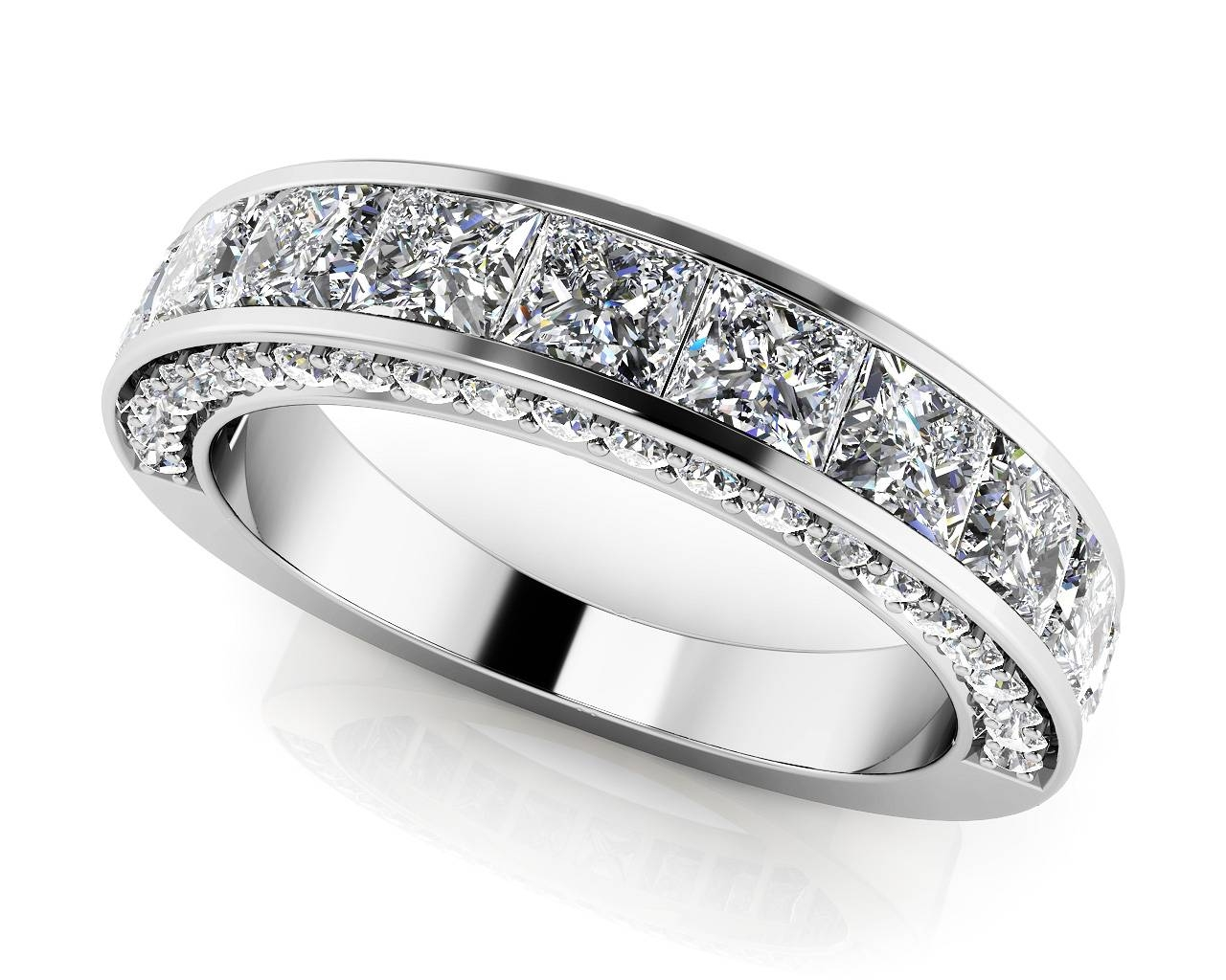 Design Your Own Diamond Anniversary Ring & Eternity Ring In Most Popular 25Th Anniversary Rings For Her (Gallery 18 of 25)