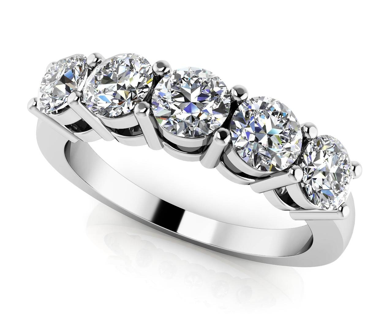 Design Your Own Diamond Anniversary Ring & Eternity Ring Pertaining To Most Up To Date 5 Stone Diamond Anniversary Rings (View 6 of 25)